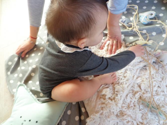Pasito a paso, bebés abrigaditos de la cabeza a los pies