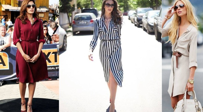 Lo que se usa: shirtdress