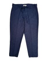 Pantalon capri de lino azul $1600