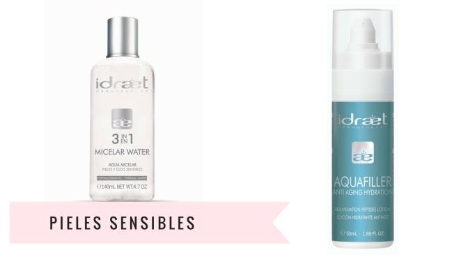 Las pieles sensibles y un dúo pensado para ellas: Agua Micelar 3 en 1 + Aquafiller Lotion de Idraet