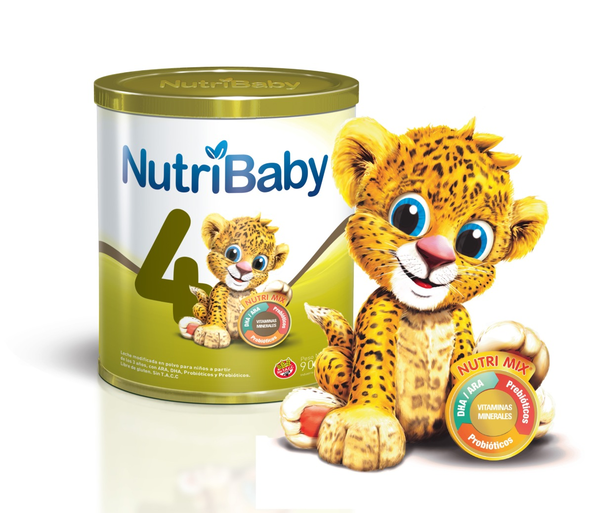 NutriBaby 4:Única fórmula infantil premium con simbióticospara niños de 3 a 5 años