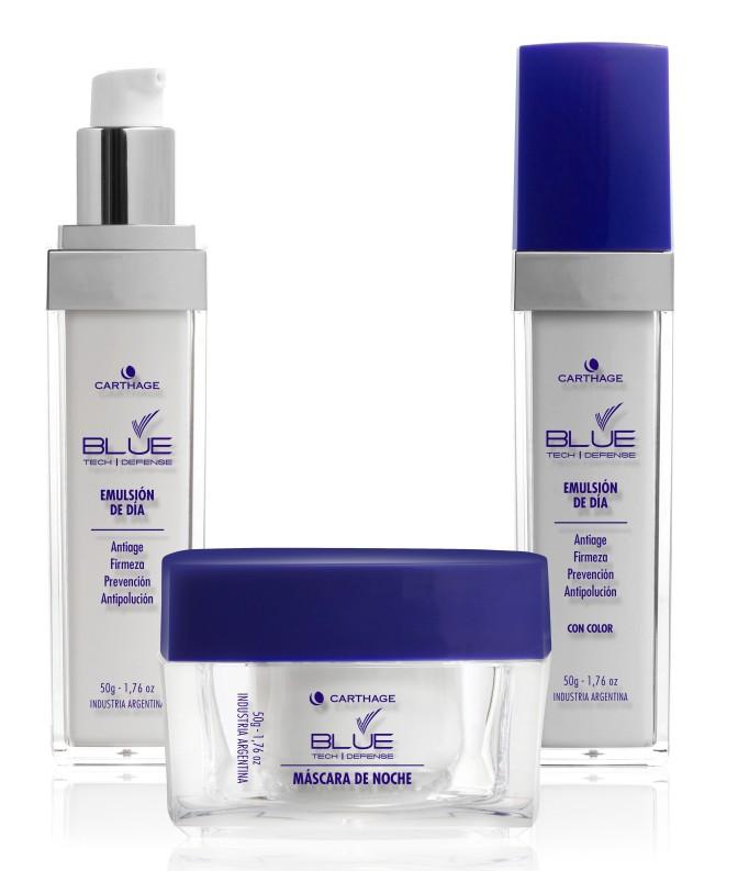 """CARTHAGE presentaBlue Tech Defense:prevení el """"envejecimiento digital"""" de tu piel"""