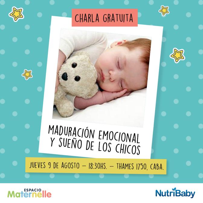 Charla gratuita: Maduración emocional y sueño en los niños