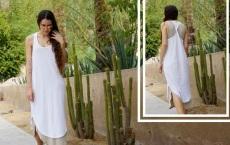 vestido doble blanco