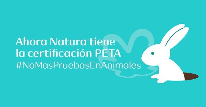 Natura suma la certificación PETA