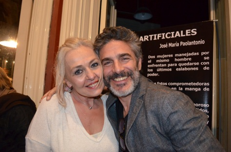 Leonardo Sbaraglia, junto a su amiga y colega, Lili Popovich .JPG