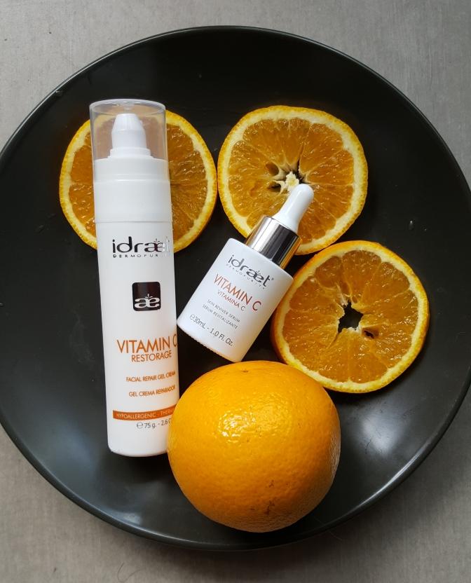 Idraet presenta Vitamin C: crema gel reparador y serum revitalizante