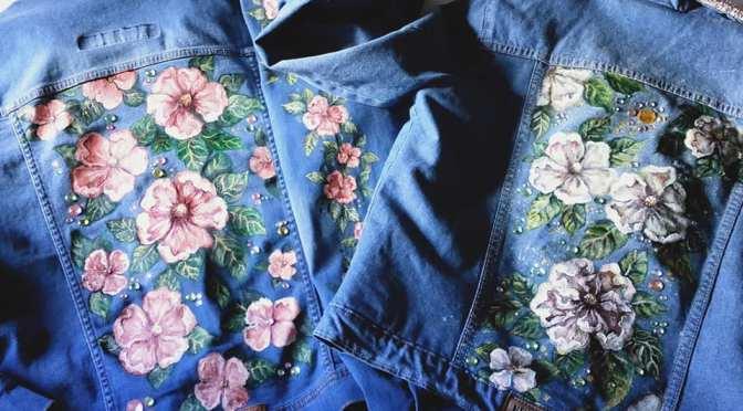 Si te gustan las prendas pintadas a mano y customizadas descubrí Laurel Diez Jeans Art